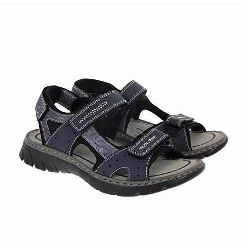 Rieker  26757 Sandals-Men, Sandales Bout ouvert homme Denim