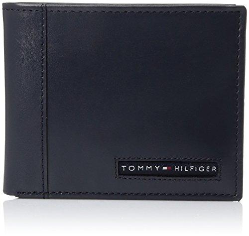 Tommy Hilfiger Herren Geldbörse dünn schlank lässig faltbar 6 Kreditkartenfächer herausnehmbares Ausweisfenster - Blau - Einheitsgröße -