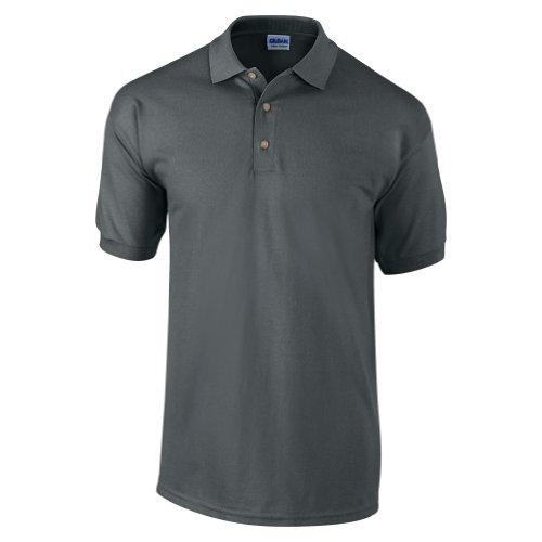 Gildan Ultra Herren Piqué Polo-Shirt, Kurzarm L,Kohlegrau