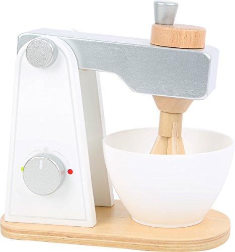 small foot 10595 Rührgerät aus Holz, Zubehör für Kinderküche, mit beweglichem Oberteil und Rührschüssel, ab 3 Jahren