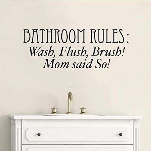 GBUIHZK Wandaufkleber 52 cm * 19,4 cm Bad Regeln Waschen Flush Pinsel Kunst Wohnkultur PVC Wandaufkleber -