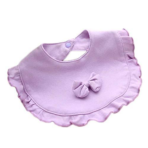 yuehuxin Delicato Newborn Boy Trend Girl Modern Baby Cotton Pretty Saliva Towl Toddler Cotton Bibs Kids Fashion Towel Bib Nutring Hot Bibs(None Rose purple)