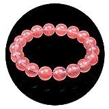 Pierre D'Agate De Cristal Rouge PastèQue Naturelle Bracelet Love Peach Flower Soins...