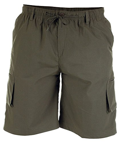 Big King Size Mens Elasticated Waist Cargo Shorts Duke D555 Casual Combats