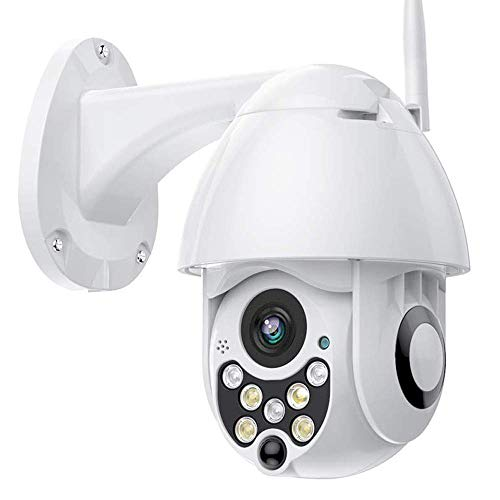 PTZ Camera WIFI 1080P, IP Camera 320° Pan/110° Tilt, Sensore di Movimento, Interfono Vocale Bidirezionale, 30M Visione Notturna, IP66 Impermeabile, Messaggio Push