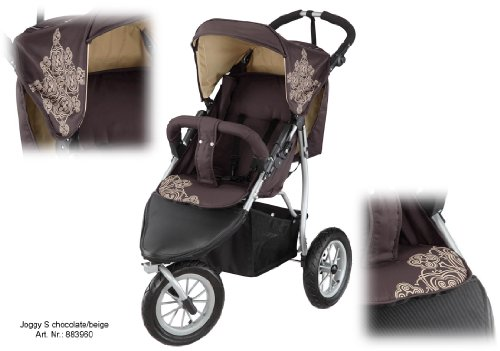 knorr baby joggy s poussette sportive style buggy 3 roues pneumatiques chocolat beige b b. Black Bedroom Furniture Sets. Home Design Ideas