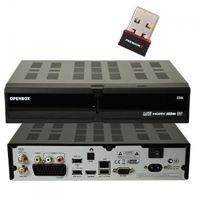 Openbox SX6 HD FullHD HDTV Digital Sat Receiver Linux, Web, Lan, 4xUSB, CI Slot, Kartenleser, Youtube, 1080p, KARTINA TV NEU + PremiumX Wlan STick