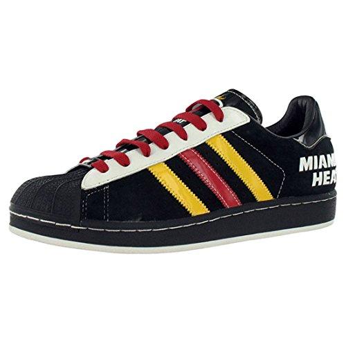 Adidas Hommes de chaleur Superstar Chaussure Décontractée Noir/rouge/jaune
