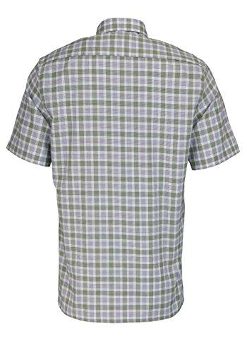 Eterna Half Sleeve Shirt Modern Fit Oxford Checked Verde/Blu