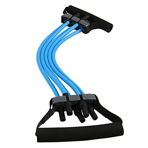 QAZ Fitnessbänder Chest Expander Puller Workout Fitness Widerstand Elastikkabel 5 Schläuche Widerstandsbänder Einstellbare Krafttrainer - Loop Puller