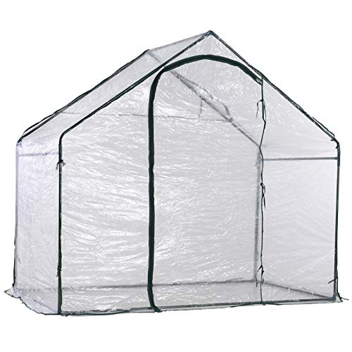 Outsunny Invernadero Transparente de Jardín Vivero Casero Plantas 180x105x150cm
