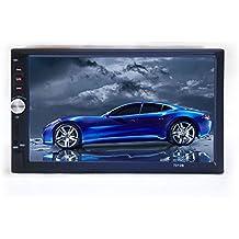 """PolarLander 7 """" pulgadas LCD de pantalla táctil de la radio de coche de apoyo al jugador Bluetooth manos libres para 1080P Película cámara de visión trasera 2 Din Car Audio Estéreo Mp5 Azul"""