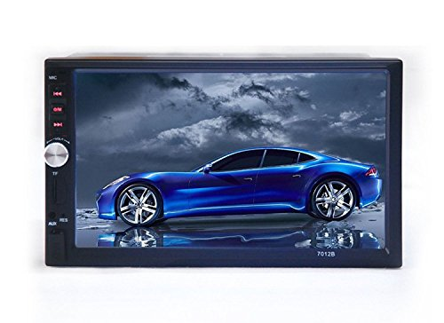 PolarLander 7 '' Zoll-LCD-Touch-Screen-Auto-Radio-Player Unterstützung Bluetooth Hands Free 1080P Film-Rückfahrkamera 2 Din Car Audio Stereo Mp5 Blau