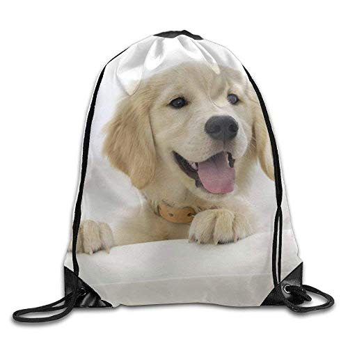 False warm warm Golden Retriever Drawstring Backpack Rucksack Shoulder Bags Training Gym Sack for Man and Women - Roxy Rolling Rucksack