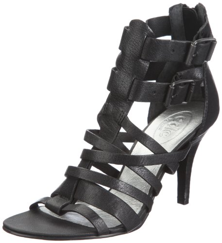 edc by ESPRIT MORITA STRAP SANDAL R49544, Damen, Sandalen/Fashion-Sandalen, Schwarz (black 001), EU 40