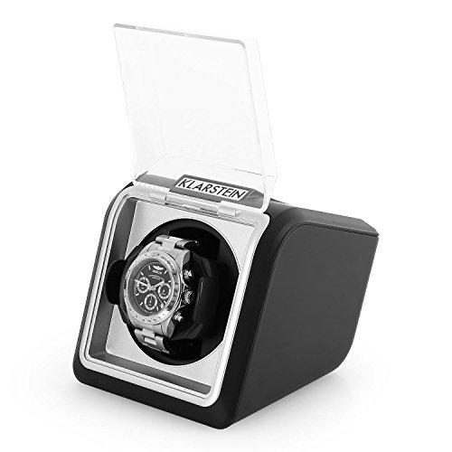Klarstein 8PT1SR eleganter Uhrenbeweger Watchwinder (linkslauf/rechtlauf, Sichtfenster, Kunstleder, flüsterleise) schwarz - 4
