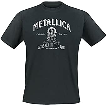 metallica whiskey in the jar t shirt schwarz. Black Bedroom Furniture Sets. Home Design Ideas