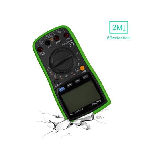 Regard L Hintergrundbeleuchtung Digital-Multimeter AC/DC Strom Spannung Widerstand Frequenz Temp Tester LCD 6000 Zähler,Green,180 * 90 * 40mm