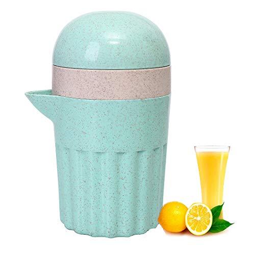 OrangeClub Manuell Zitronenpresse Zitruspresse Saftpresse für Orange Lemon Weintraube Apfel Wassermelone (Grün)