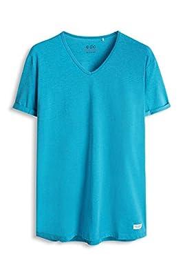edc by Esprit Men's 046cc2k037-Melange-Slim Fit T-Shirt