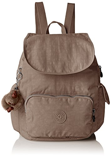 Kipling Damen CITY PACK S Rucksack Grau (Warm Grey), 27 x 33.5 x 19 cm