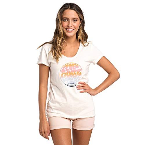 Rip Curl Rainbow Wetsuit Tee Damen,T-Shirt,Short Sleeve Tee,Kurze Ärmel,Rundausschnitt,Sea Salt,S -