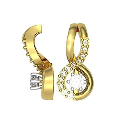 0.16ct F/VS1 Diamant Anhänger für Damen mit runden Brillantschliff diamanten in 18kt (750) Gelbgold ohne Halsband