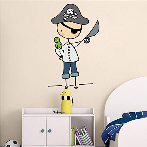 (Txyang Cartoon Pirate Mateys Farbe Wandaufkleber Für Kinderzimmer Kindergarten Abnehmbare Tapete Poster Schlafzimmer Wandkunst Aufkleber Wohnkultur)