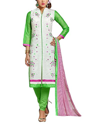 Desi By Design Black Embroidered Chanderi Cotton Salwar Kameez Suit Dress Material