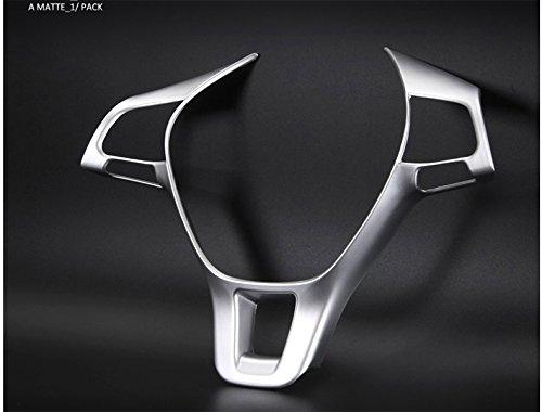 Emblem Trading Emblem Lenkrad Abdeckung Blende ABS Kunststoff Chrom Matt Passend Für Golf 7 Tiguan 2 T-Roc T-Cross (Tiguan Lenkrad)
