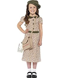 Childrens Fancy Dress Party Book Week Wartime Evacuee Girls Costume Outfit