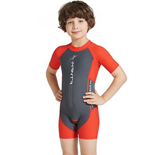 140518f13e61 Costume da Bagno per Bambina Bambino - Ragazze Ragazzi Maniche Corte Costumi  Interi con Protezione Solare