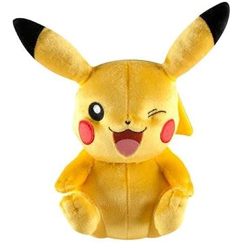 Peluche de Pokemon, 20,3 cm, Edición Especial 20Aniversario, Pikachu con Pose de Guiño
