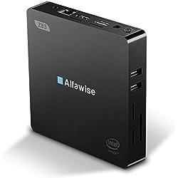 Alfawise Mini PC Z83V (64-bit) Desktop PC Processeur Intel Atom X5-Z8350 DDR3 2 Go + eMMC 32 Go Graphics 400 Double Écran 2.4G/5.8G WiFi Intégrée Boîtier 1000Mbps LAN BT 4.0 USB 3.0 VGA HDMI