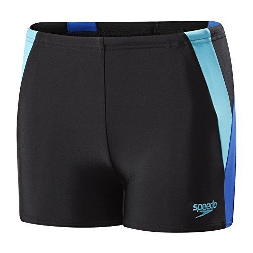 Speedo Jungen Farbe Block Aqua Shorts, Schwarz/Amparo blau/türkis, Größe 32