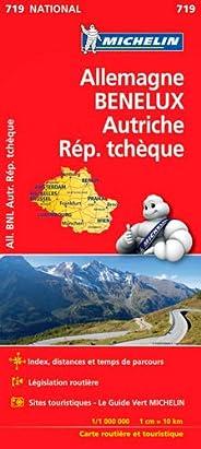 Carte Allemagne, Benelux, Autriche, République tchèqueMichelin