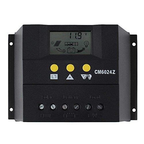 60A 12-24V PWM LCD Solarregler Regler Akku laden Sicherer Schutz Solar Panel Regler Laderegler