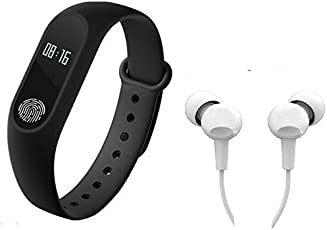 Easypro Bluetooth M2 Fitness Band With Heart Rate Sensor Smart Band And Fitness Tracker (Black)