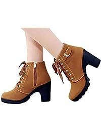 Amazon.it  francesine donna con tacco - Stivali   Scarpe da donna ... bb18270877a