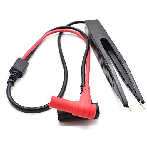 60cm SMD Induktor Test Clip Electroni Komponenten Clip Probe Pinzette für Widerstand Multimeter-Kondensator