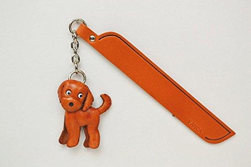 Goldendoodle Leder Hund Charm Lesezeichen Vanca handgefertigt in Japan... -