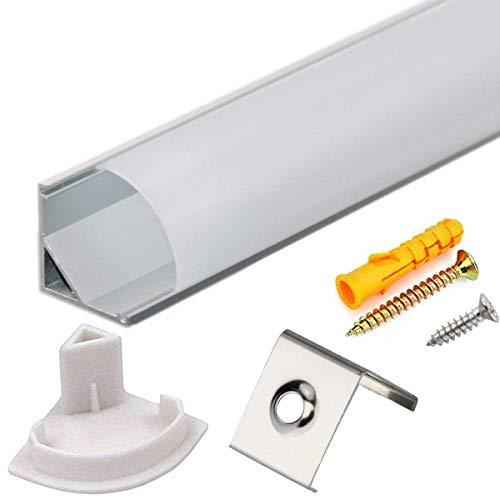 Perfil Tira LED Aluminio 45° - 10x1metro Perfil Aluminio
