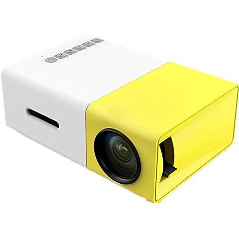 Pico protector de bolsillo DOHAOOE MP105Portátil Teatro de casa Mini proyector LCD Vídeo Soporta 1080P con USB/SD/AV/VGA/HDMI para DVD,MA3/MP4,TV box, TV vía satélite,