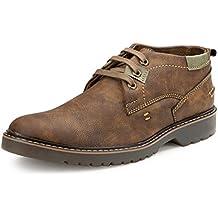 Escaro Men's Leather Casual Derby Shoes
