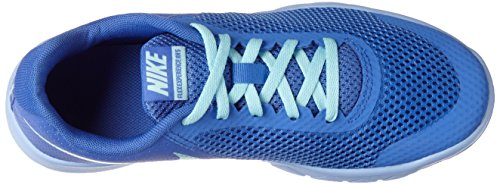 Nike Flex Experience 5 Gs, chaussures de course fille Bleu (Med Blue/still Blue/aluminum/black)