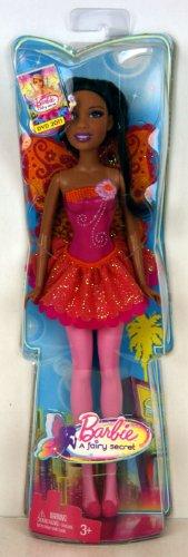 Barbie - T7354 - A Fairy Secret / Un secret de fée - Barbie (African American) avec des ailes de fées