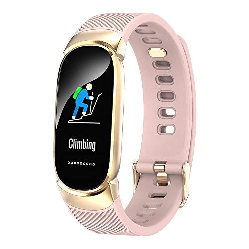 bloatboy QW16 Smart Watch, Kapazitive Berührung 0,96 Zoll Bluetooth 4.0 Sport im Freien Armband Fitness Aktivität Herzfrequenz Tracker Blutdruck Uhr (Pink)