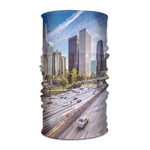 Woman's Mans Turban Downtown Cityscape of Los Angeles California USA Avenue Buildings Hip Hop Kerchief