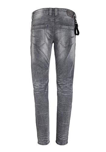 Timezone Herren Jeans Slim Eduardo Jogg Grau (Light Grey Wash 2085)