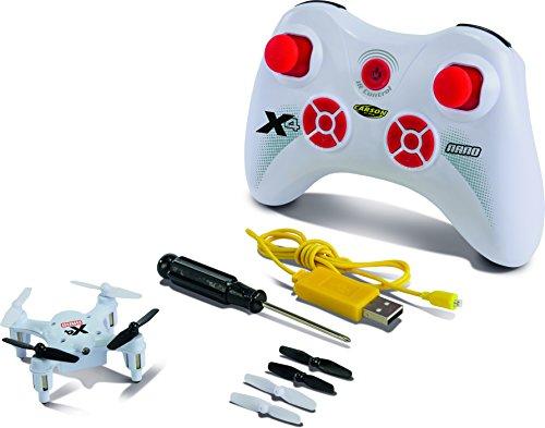Carson 500507079 – X4 Quadcopter Nano 100% RTF, blanc